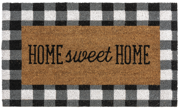 Home Sweet Home Gingham Doormat