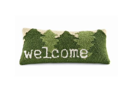 Welcome Tree Hooked Pillow