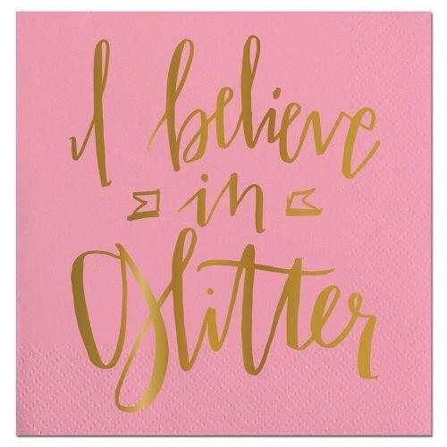 Bev Napkin Believe in Glitter