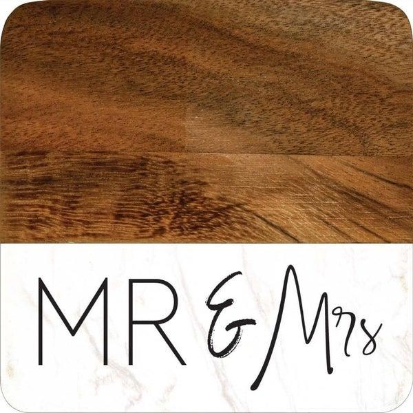 Mr. & Mrs. Coaster Set of  4