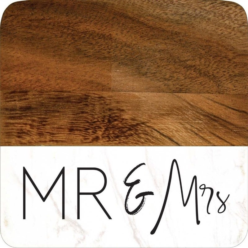 Mr. & Mrs. Coaster Set of  4