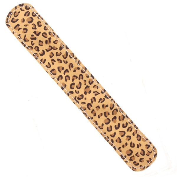 Gold Leopard Slap Bracelet