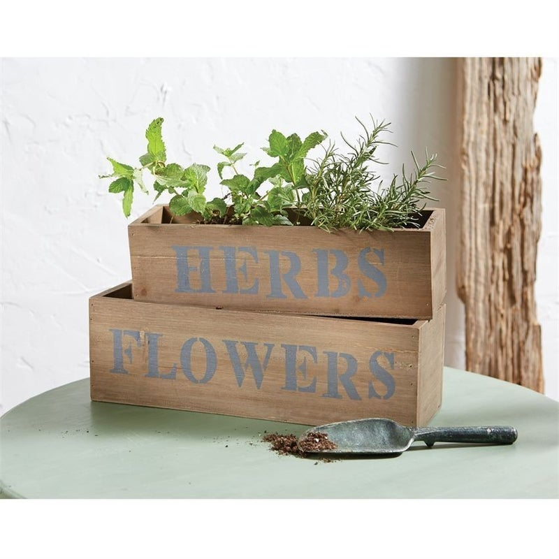Nested Wood Planter Boxes