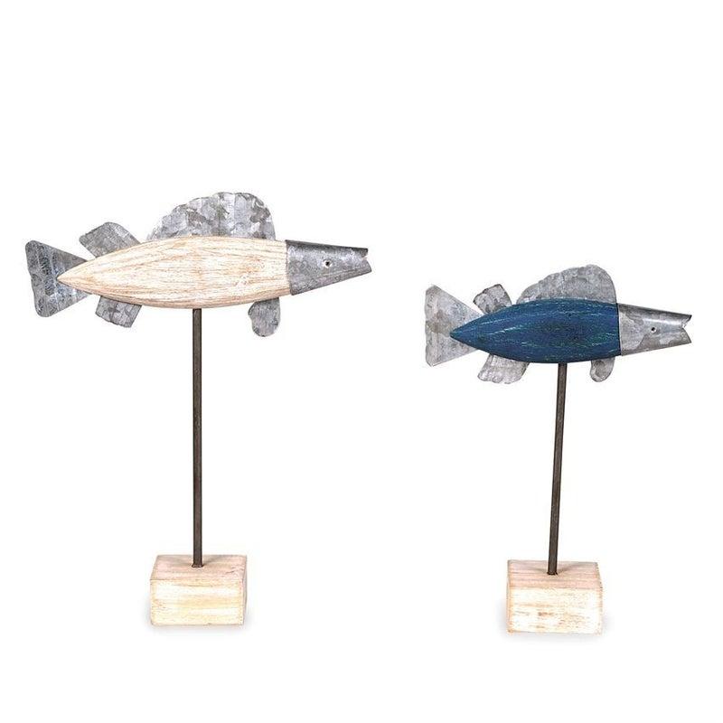 Wood Tin Fish Setter Set