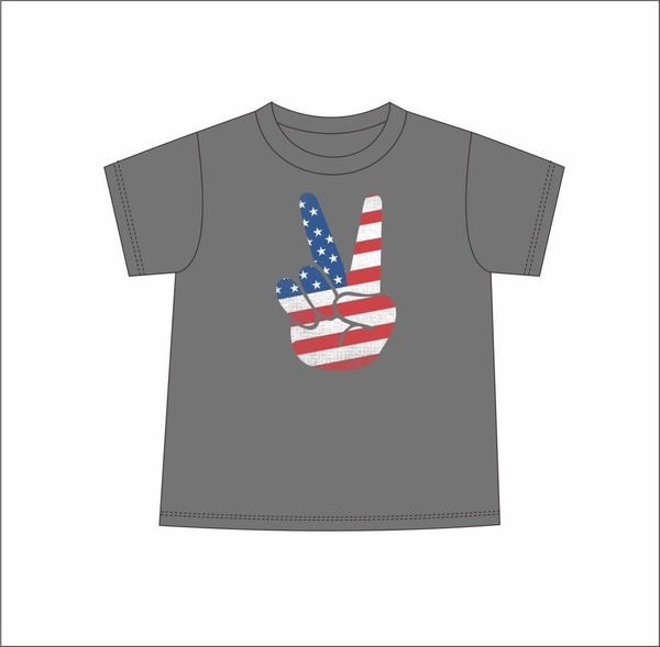 Kids Tee American Flag Peace *Final Sale*