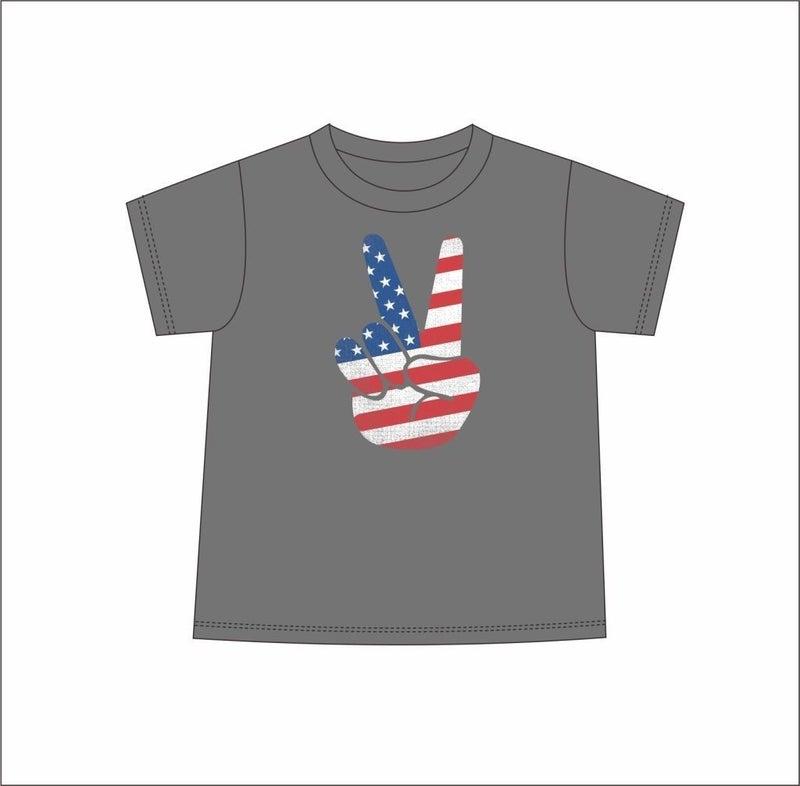Kids Tee American Flag Peace *Final Sale*