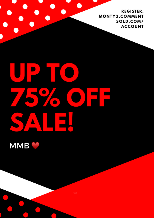 Up to 75% Off SALE Section!