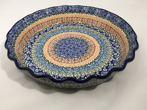 Pie Plate ~ Fluted ~ 10 inch ~ Blue Moon