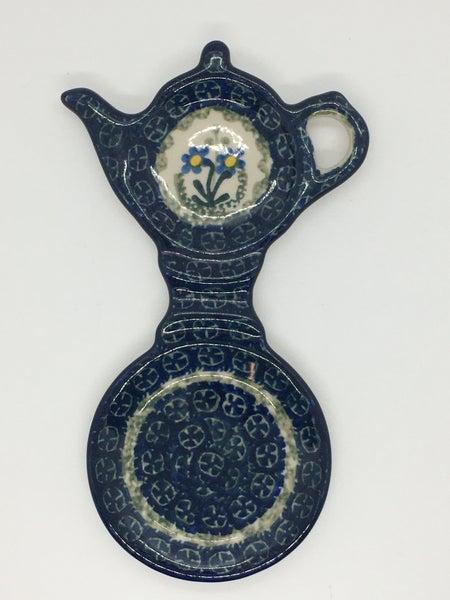 Tea Bag & Cup Holder ~ Blue Spring Daisy