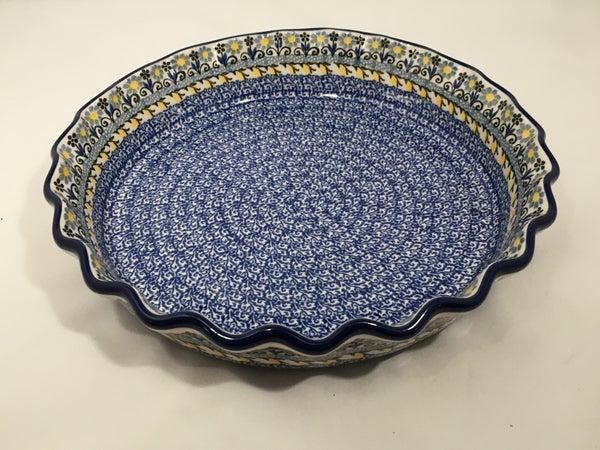 Pie Plate ~ Fluted ~ 10 inch ~ Ukrainian