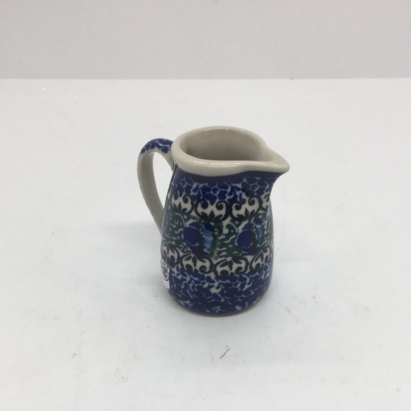Miniature Jug / Toothpick Holder ~ 2.25 inch ~ Peacock Feather