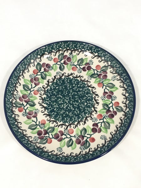 Plate ~ 7.75 inch ~ Burgundy Berry Green