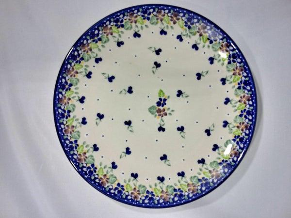 Plate ~ Dinner ~  10 inch ~ Purple Pansy