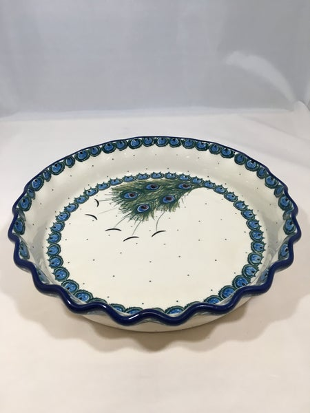 Pie Plate ~ Fluted ~ 10 inch ~ Art of the Feather