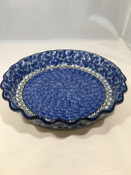 Pie Plate ~ Fluted ~ 10 inch ~ Fern