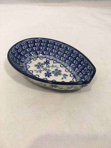 Spoon Rest ~ 3.25W x 5L ~ Cool Blue