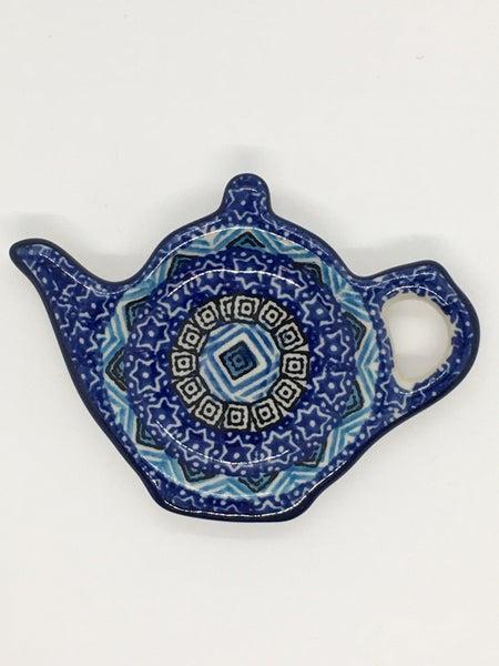 Tea Bag Holder ~ Blue Aztec