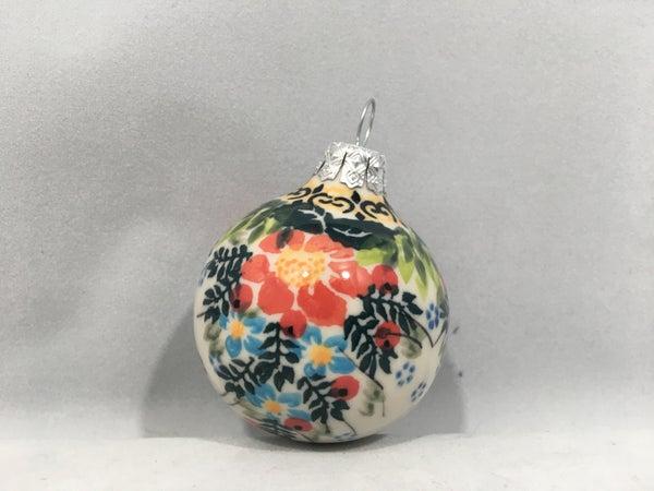 561 Round Ornament 2.5 inch - Red Flower