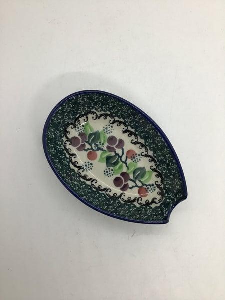 Spoon Rest ~ 3.25W x 5L ~ Burgundy Berry Green