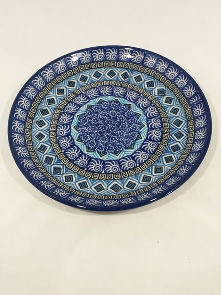 Plate ~ 7.75 inch ~ Blue Aztec