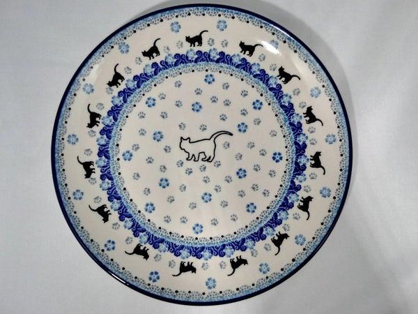 Plate ~ Dinner ~  10 inch ~ White Cat