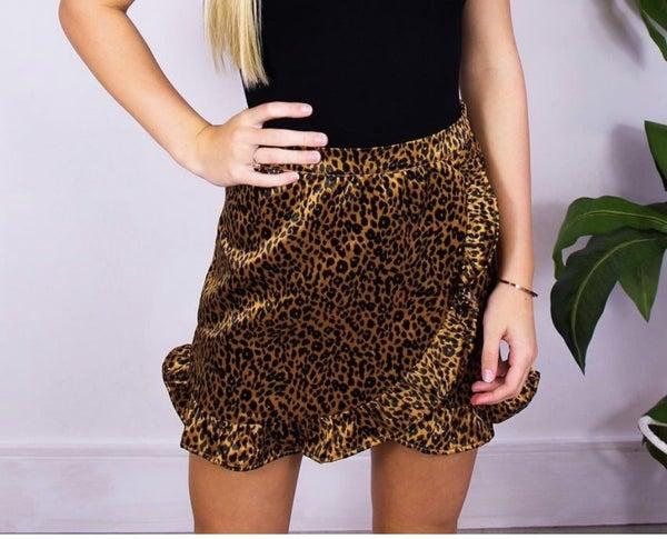 Cheetah Ruffle Skirt *Final Sale*