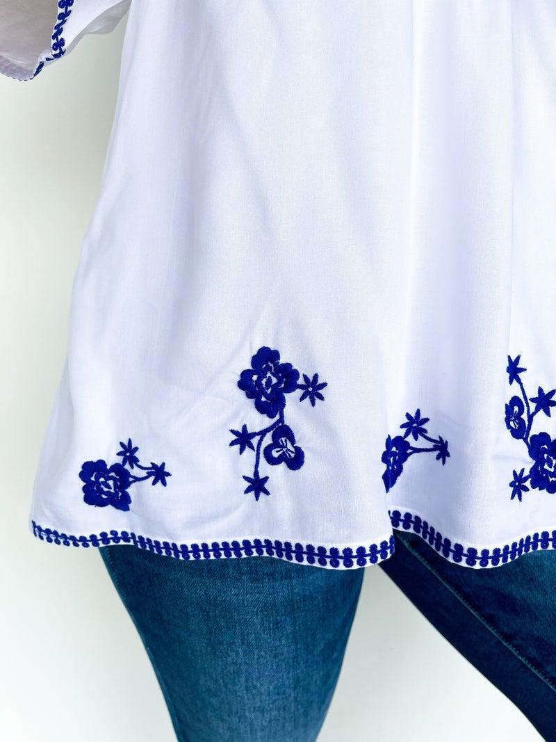 Malina Royal Embroidery Babydoll Top