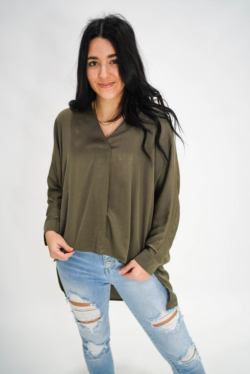 The Sarah Silky Blouse