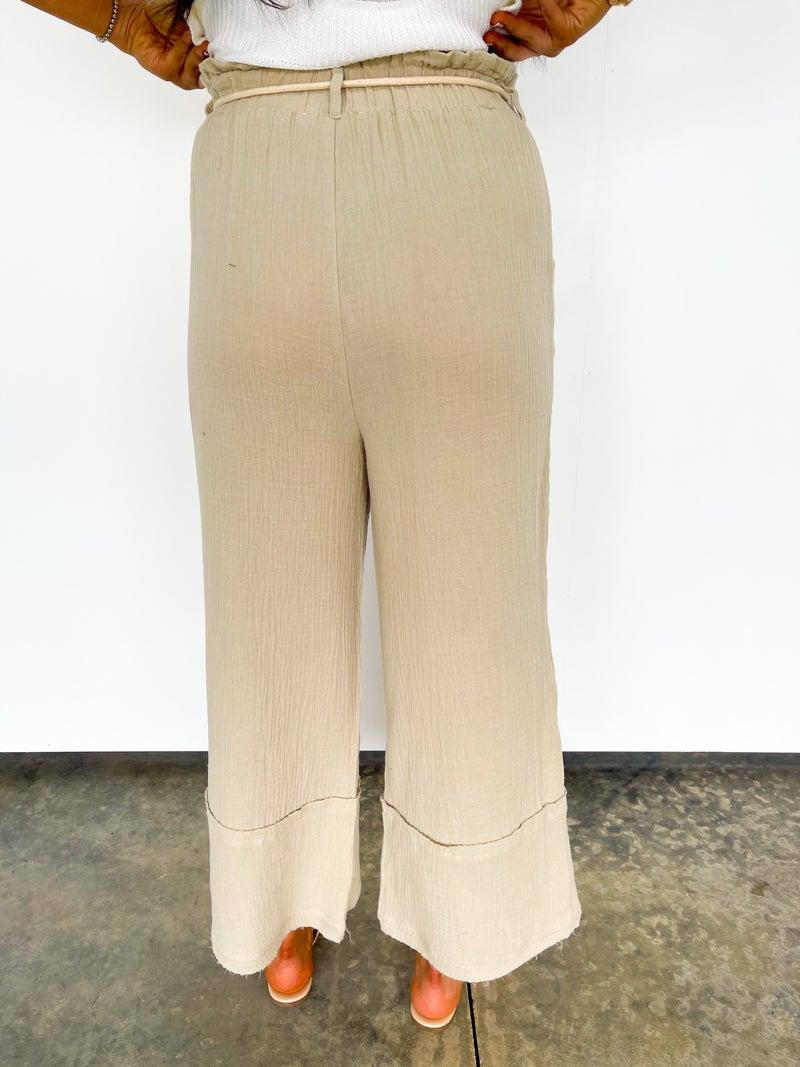 Montego Bay Wide Leg Pant W/ Rope Drawstring