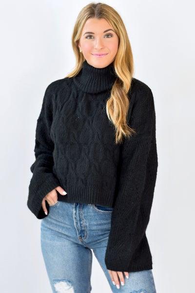 Bella Braided Turtleneck Sweater *Final Sale*