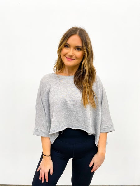 The Revive Raw Crop - Heather Grey