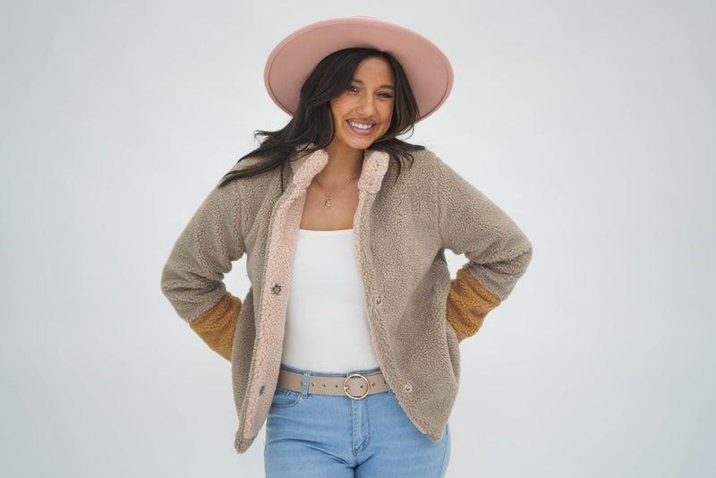 Chloe Colorblock Sherpa Jacket *Final Sale*