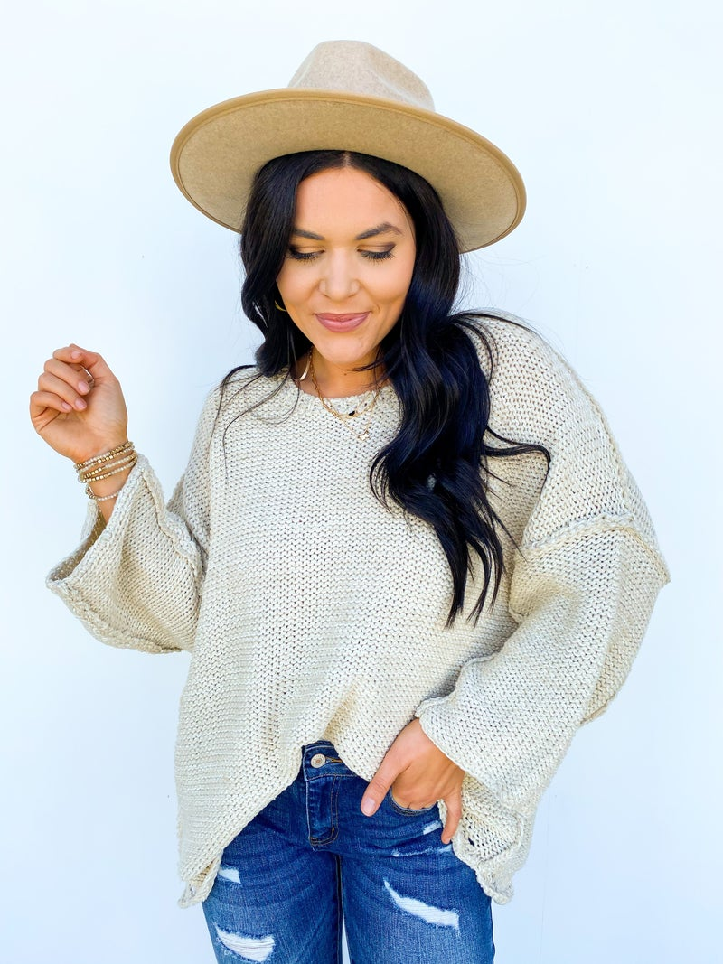 Beatrix Oatmeal Knitted Sweater