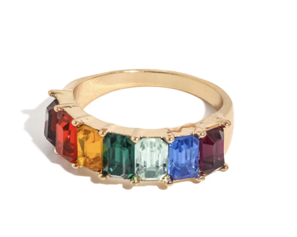 Rainbow Studded Ring