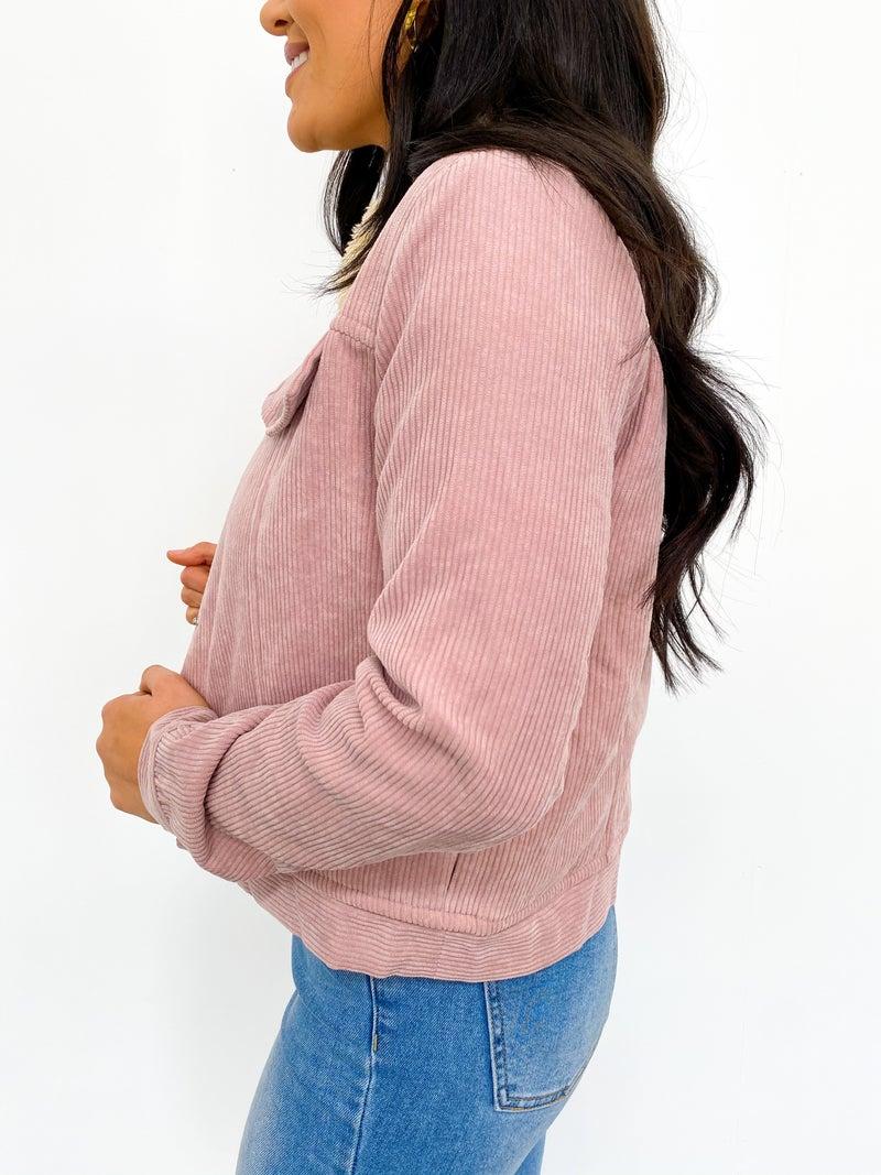 Bubblegum Bliss Sherpa Lined Jacket