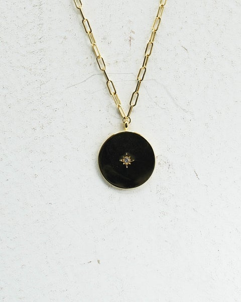 All Signs Pointed North Charm Necklace