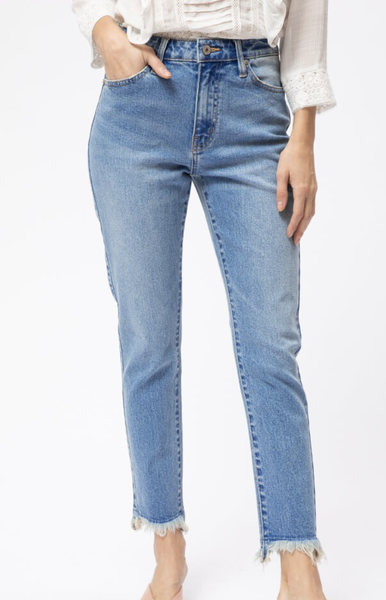 The Caroline Classic Mom Straight Leg Jean