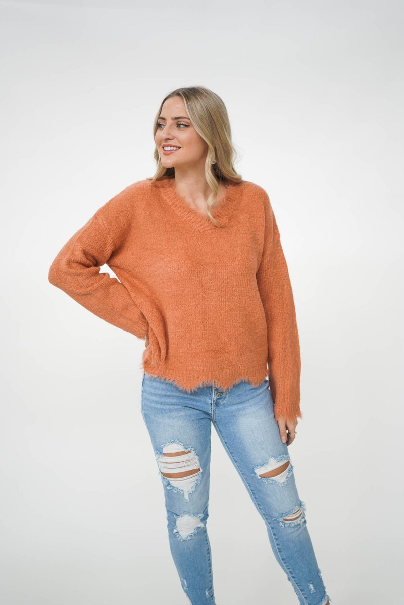 Sleigh My Name Scalloped Sweater