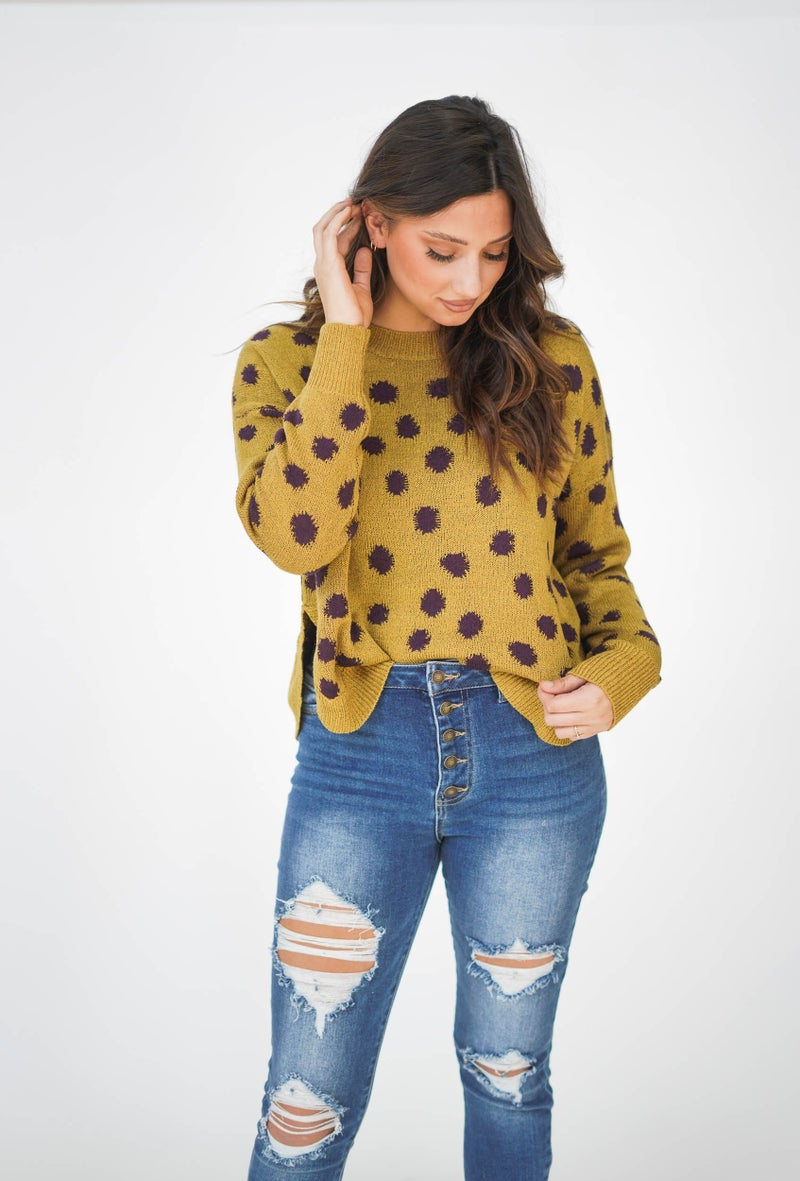 Hear It For The Boys Polka Dot Sweater *Final Sale*