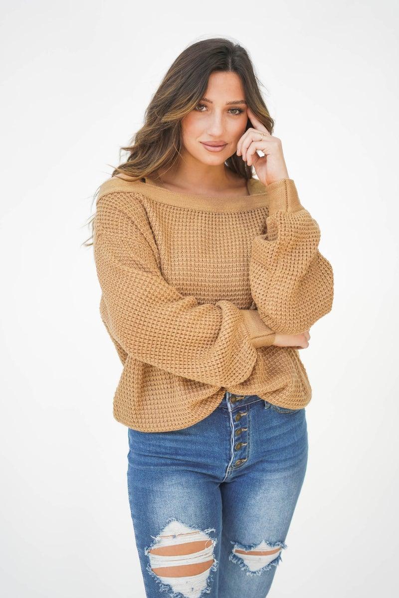 Let's Grab Drinks Off The Shoulder Sweater *Final Sale*