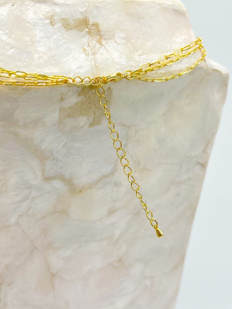 Mother Of Pearl Encased 3 layer chain