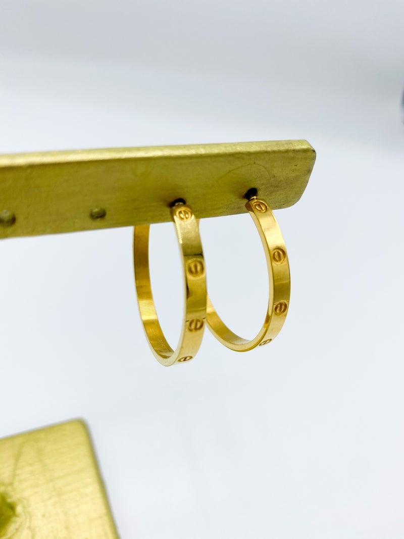 Cartier Knockoff Hoop Earring