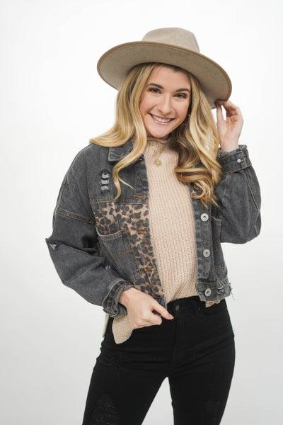 The Erica Edgy Leopard Denim Jacket