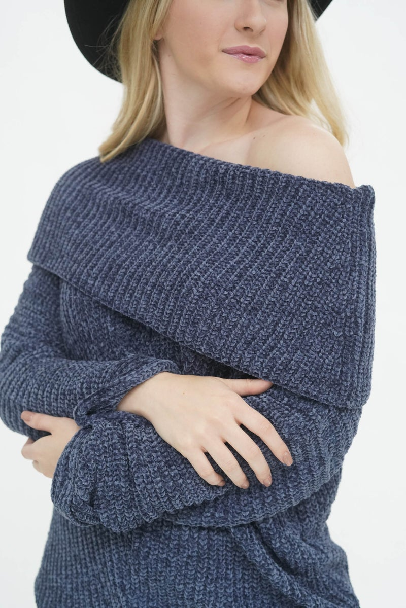 Chilly But Chillin' Midnight Chenille Sweater *Final Sale*