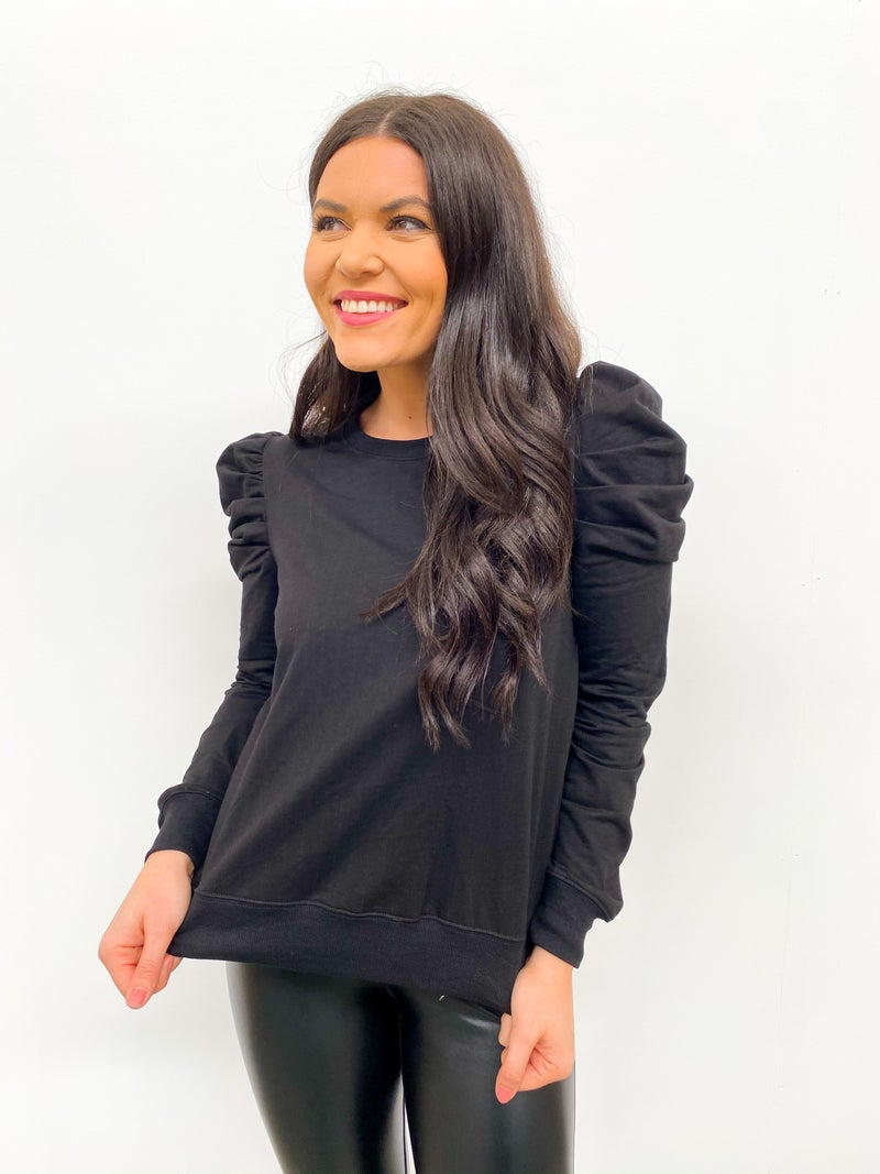 Renew Puff Long Sleeve Sweatshirt - Black