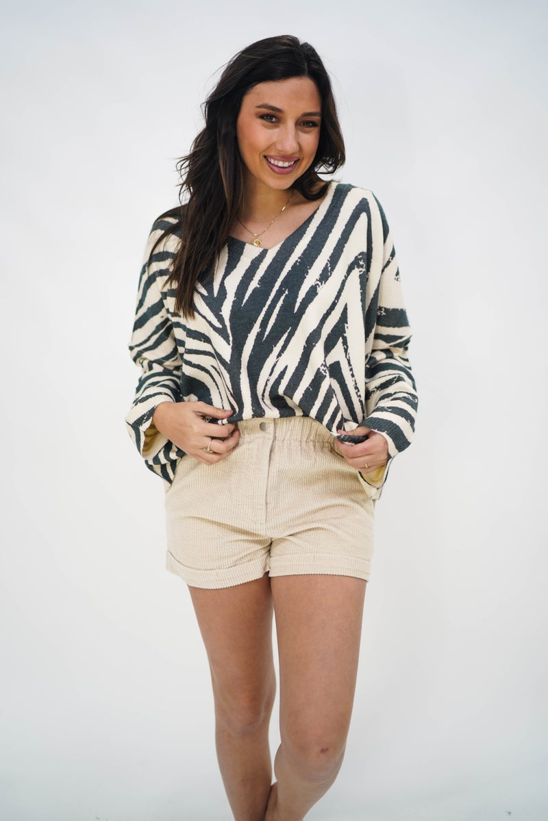 The Zelda Zebra Sweater