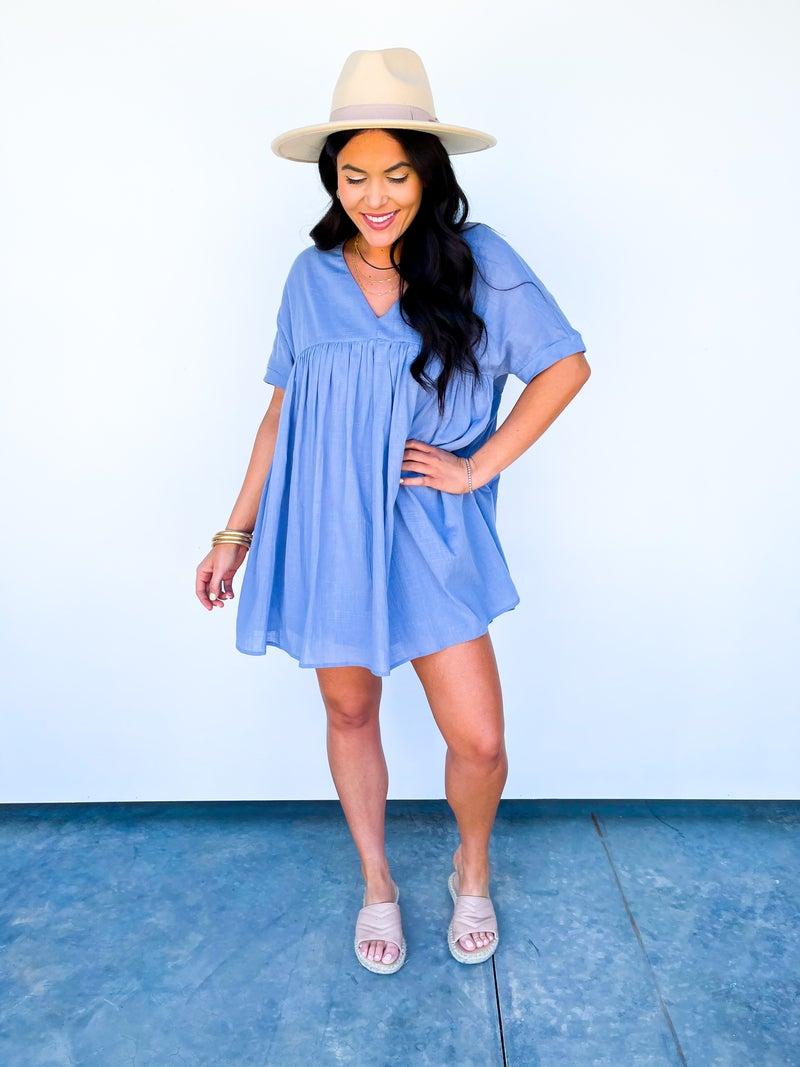 Kristen Babydoll Dress Lined