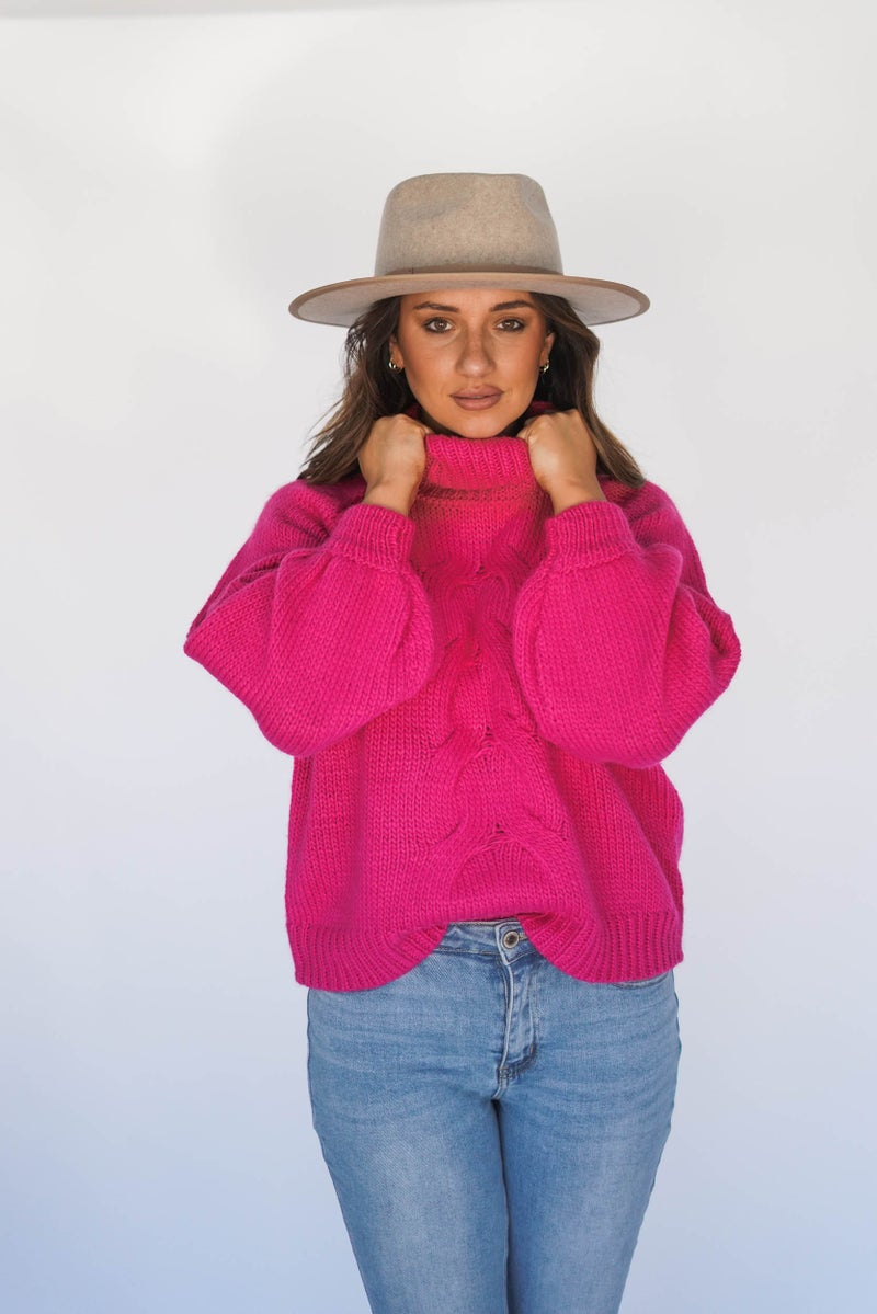 Chunky And Chic Cable Knit Turtle Neck *Final Sale*
