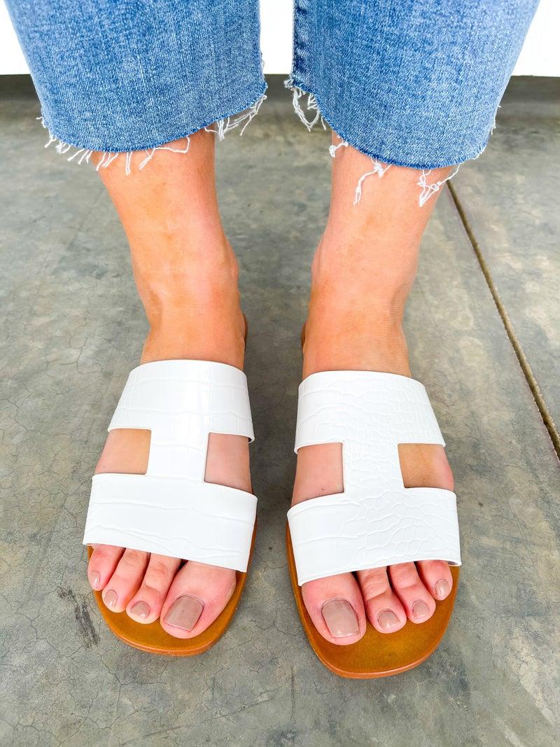 Sunbathe Slide - White