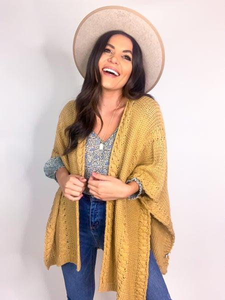 Let's Go Apple Picking Sweater Kimono *Final Sale*